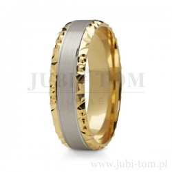 Obrączki ślubne białe złoto + żółte złoto