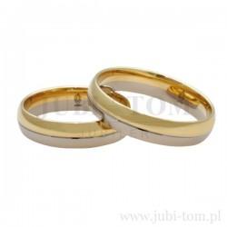 Obrączki żółte złoto + białe złoto
