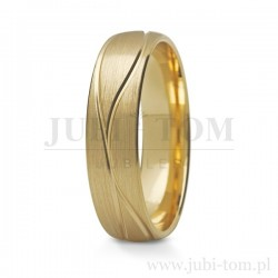 Obraczki - żółte złoto z kamieniem
