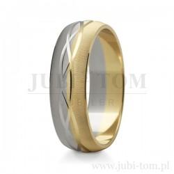 Obraczki ślubne z białego i z żółtego złota