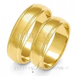 Obrączki żółtego lub białego złota - złoty skorpion