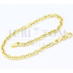 Piękna bransoletka złota łańcuszkowa