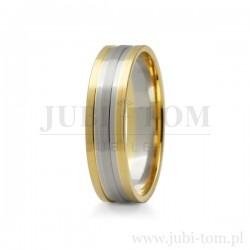 Obraczki ślubne z białego i żółtego złota