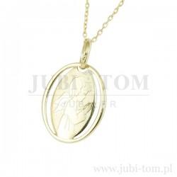 Medalik złoty Anioł Stróż 585