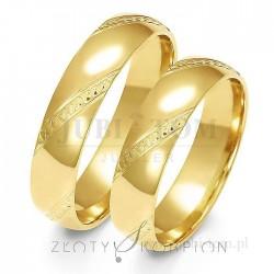 Obrączki z żółtego lub białego złota - złoty skorpion