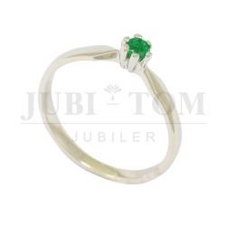 Przepiękny pierścionek z naturalnym szmaragdem