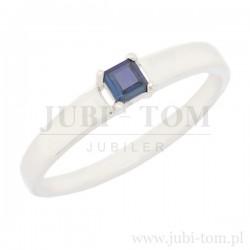 Klasyczny pierścionek z naturalnym szafirem