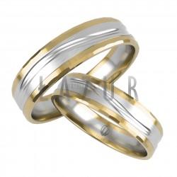 Obrączki żółte złoto i białe złoto - Lazur