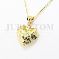Wisiorek serce złota p.585