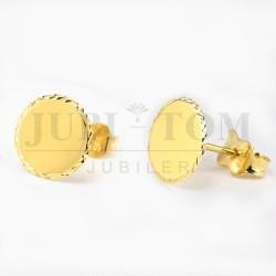 Kolczyki okrągłe diamentowane sztyft