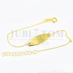 Złota bronsoletka dla dziecka