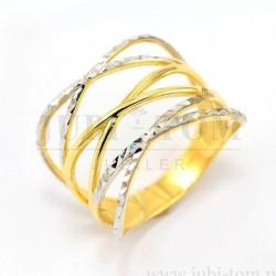 Oryginalny złoty pierścionek p.585