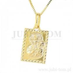Medalik złoty p.585 prostokątny