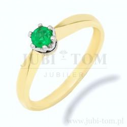 Przepiękny pierścionek z naturalnym szmaragdem p.585
