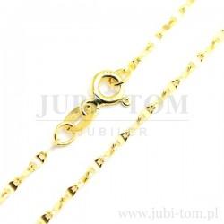 Ładny łańcuszek żółte złoto p.585