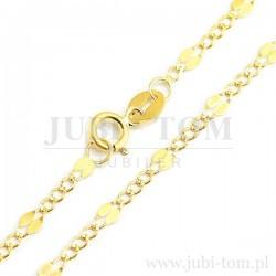 Łańcuszek złoty z ciekawym spoltem
