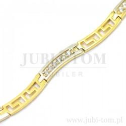 Elegancka złota bransoletka p.585