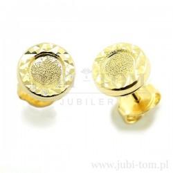 Złote kolczyki diamentowane okrągłe na sztyft p.585