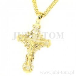 Krzyżyk złoty duży, ozdobny p.585