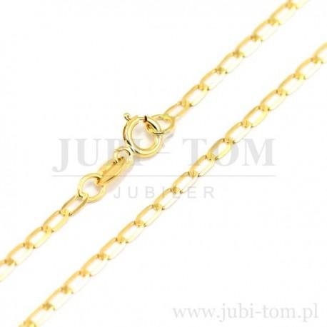 Łańcuszek pełny diamentowany żółte złoto