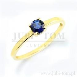 Przepiękny pierścionek z naturalnym szafirem p.585