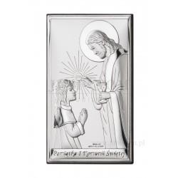 Obrazek posrebrzany I Komunia Święta- dziewczynka