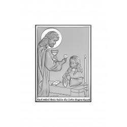 Obrazek srebrny I Komunia Święta- dziewczynka