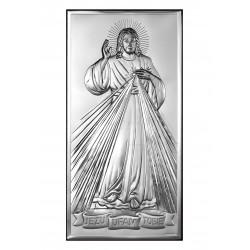 Obrazek srebrny z wizerunkiem Pana Jezusa