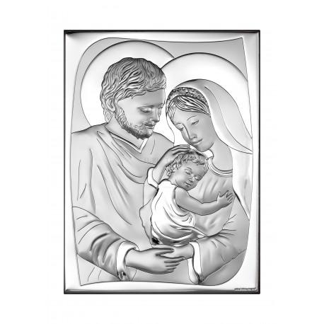 Obrazek srebrny Świeta Rodzina
