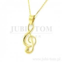 Złoty wisiorek klucz wiolinowy p.585