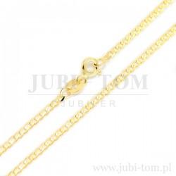 Łańcuszek pancerka pełna diamentowana żółte złoto