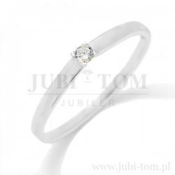 Delikatny pierścionek z brylantem - 0,05 ct SI/G/H p.585