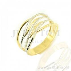 Diamentowany złoty pierścionek p.585
