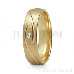 Obrączki ślubne żółte złoto p.585