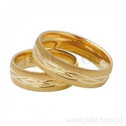 Obrączki z żółtego złota
