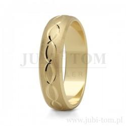 Obrączki ślubne żółte złoto